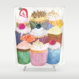 Cupcake Cluster Shower Curtain