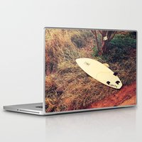 surfboard Laptop & iPad Skins featuring surfboard- Maui by Eoxe