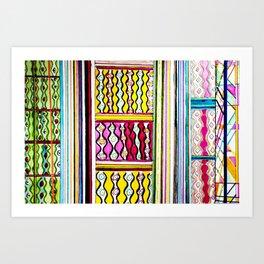 Color Maze Art Print
