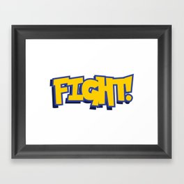 FIGHT Naruto Framed Art Print