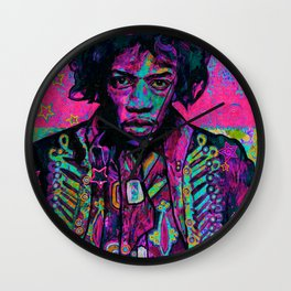 rock and roll in pink Wall Clock