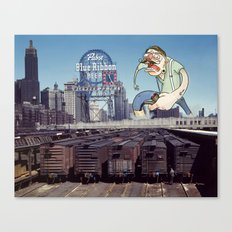 Attack of the 50 Foot Hipster Canvas Print