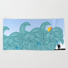 surfing 3 Beach Towel