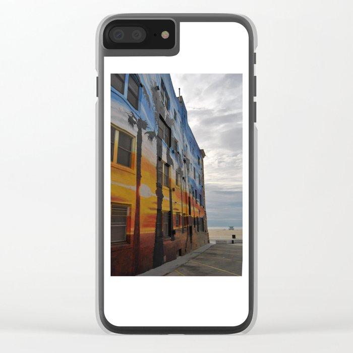 Venice Tropical Mural Clear iPhone Case