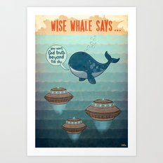 wise whale says Art Print