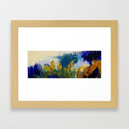 First snow over the forest. Framed Art Print