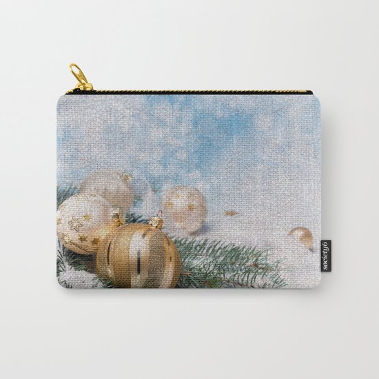 Gold Blue Ornaments Carry-All Pouch