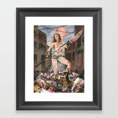 Pamela Horton's Zombie Slayer Framed Art Print
