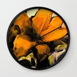 Flowers of Yellow 2 Wall Clock