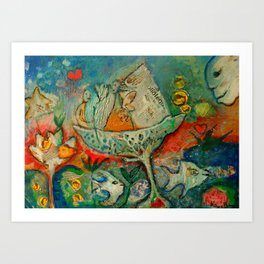 WATER FLOWER Art Print