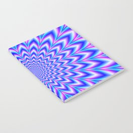 Psychedelic Pulse in Blue and Pink Notebook