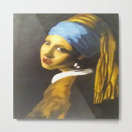 Girl with the Pearl Earring Original Metal Print