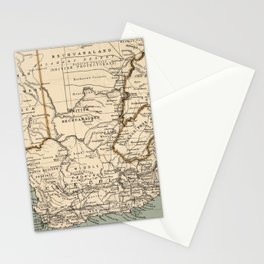 Vintage Map of South Africa (1889) Stationery Cards