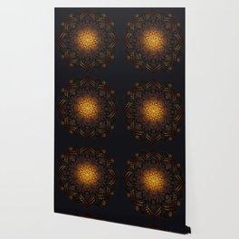 """Warm light Moroccan lantern Mandala"" Wallpaper"