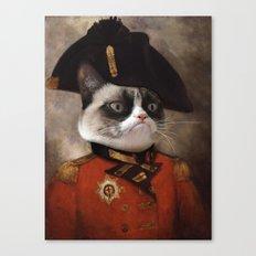 Angry cat. Grumpy General Cat.  Canvas Print