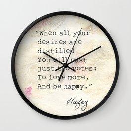 Persian poet Hafez  Wall Clock
