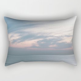 Pastel sky above the sea | Soft clouds at sunset | Fine art travel photography Rectangular Pillow