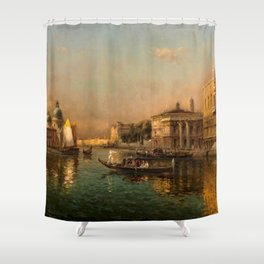 Venice Doge Palace and St. Marks landscape painting by Antoine Bouvard Shower Curtain