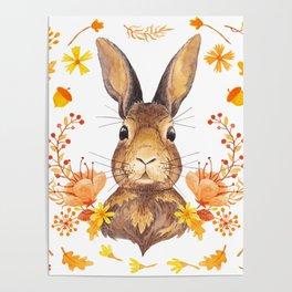 Autumn Rabbit Poster