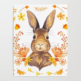 Autumn Rabbit Poster