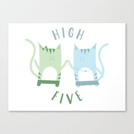 Traveling Tabbies: High Five Canvas Print