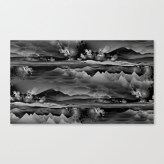 Residual Worlds (b&w) Canvas Print