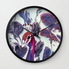 Ruffled Feathers Wall Clock