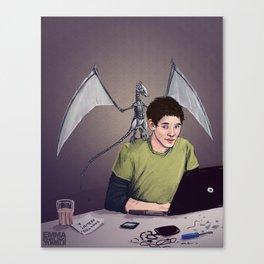 Merlin and the Mechadragon Canvas Print