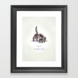 Tiny & Misunderstood Framed Art Print