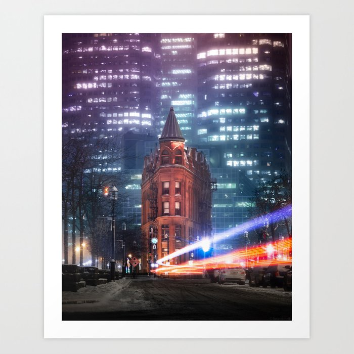 urban aurora Art Print