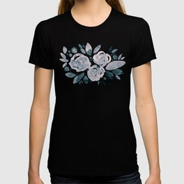 Abstract watercolor roses - neutral T-shirt