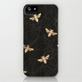 Busy Bees (Black) iPhone Case