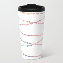 Modern abstract ombre pink lavender string lights Travel Mug