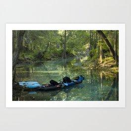Kayak in the Spring Art Print