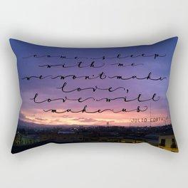 Love will make us, Cortazar Rectangular Pillow