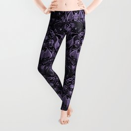Bats and Beasts - ROYAL PURPLE Leggings