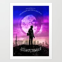 nightcrawler Art Prints featuring Nightcrawler by Dan K Norris