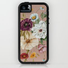 Colorful Wildflower Bouquet on Pink iPhone Case