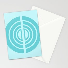 Ocean Gates in Teal Stationery Cards