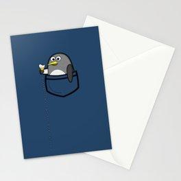 Pocket penguin enjoying ice cream Stationery Cards