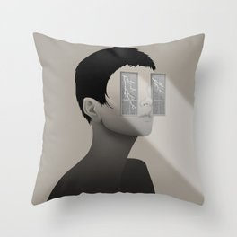 Fury in Your Eyes Throw Pillow