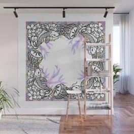 Medusa.Koi.Sakura Wall Mural