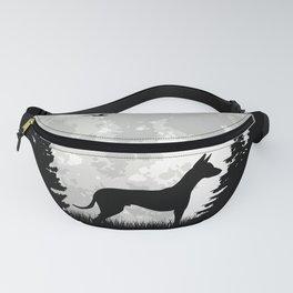 Podenco Moon Spanish Greyhound Ibizan Hound Fanny Pack
