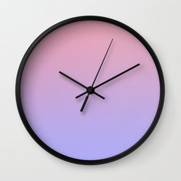 Pink & Purple Faded Ombre Wall Clock