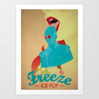 Freeze Ice Pop Art Print