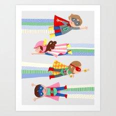 Superheroes  Art Print