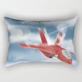Jet Plane Dogfight Rectangular Pillow