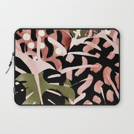 Tropical Watercolor Monstera Laptop Sleeve
