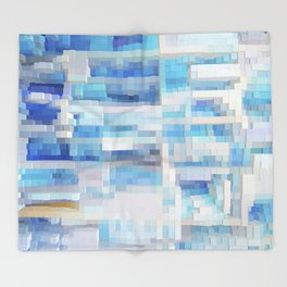 Abstract blue pattern 2 Throw Blanket
