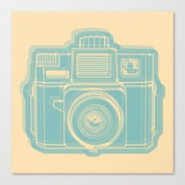 I Still Shoot Film Holga Logo - Reversed Turquoise/Tan Canvas Print